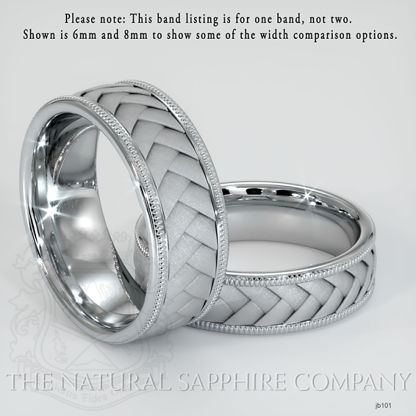 Hand made, hand woven wedding band.  JB101 Image