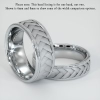 18K White Gold Plain Band - JB101W18