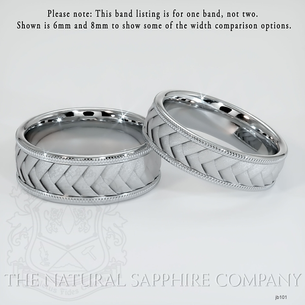 Hand made, hand woven wedding band.  JB101 Image 2