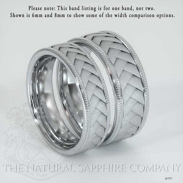 Hand made, hand woven wedding band.  JB101 Image 3