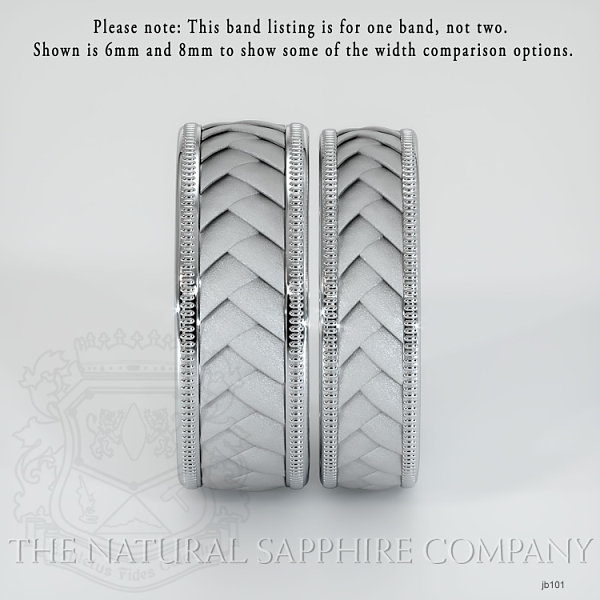 Hand made, hand woven wedding band.  JB101 Image 4