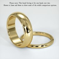 14K Yellow Gold Plain Band - JB106Y14