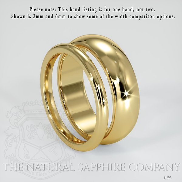 Plain wedding band JB106 Image 3