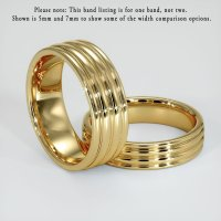 18K Yellow Gold Plain Band - JB110Y18