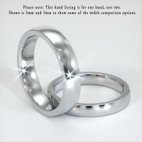 18K White Gold Plain Band - JB120W18