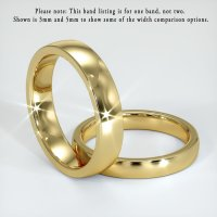 18K Yellow Gold Plain Band - JB120Y18