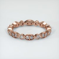 14K Rose Gold Gemstone Band - JB147R14