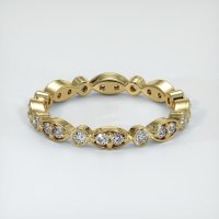 14K Yellow Gold Gemstone Band - JB147Y14
