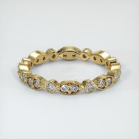 18K Yellow Gold Gemstone Band - JB147Y18