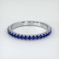 18K White Gold Gemstone Band - JB155W18