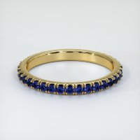 18K Yellow Gold Gemstone Band - JB155Y18
