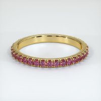 18K Yellow Gold Gemstone Band - JB156Y18