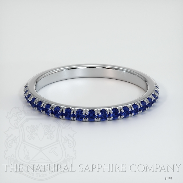 Half Way Blue Sapphire Wedding Band JB162 Image