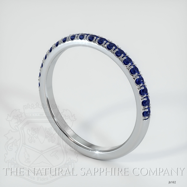Half Way Blue Sapphire Wedding Band JB162 Image 2