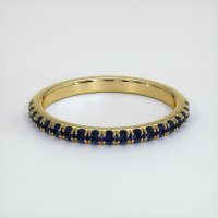 18K Yellow Gold Gemstone Band - JB162Y18