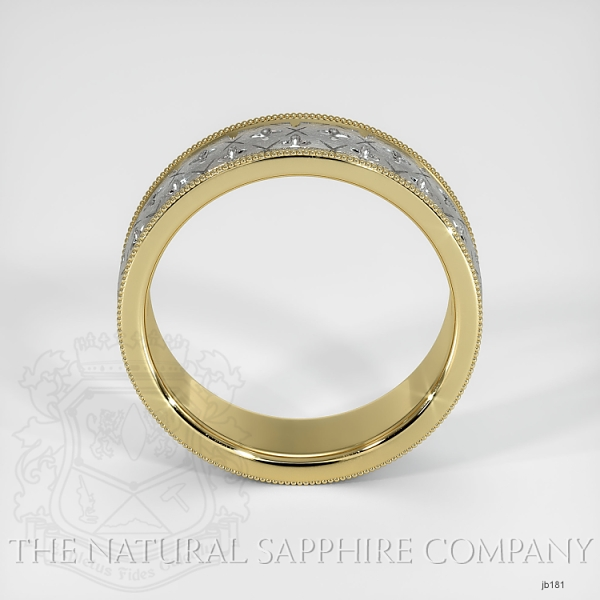 fancy Carved Wedding band JB181 Image 3