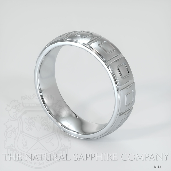 fancy Carved Wedding band JB183 Image