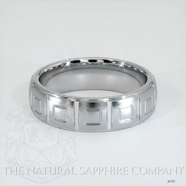 fancy Carved Wedding band JB183 Image 2