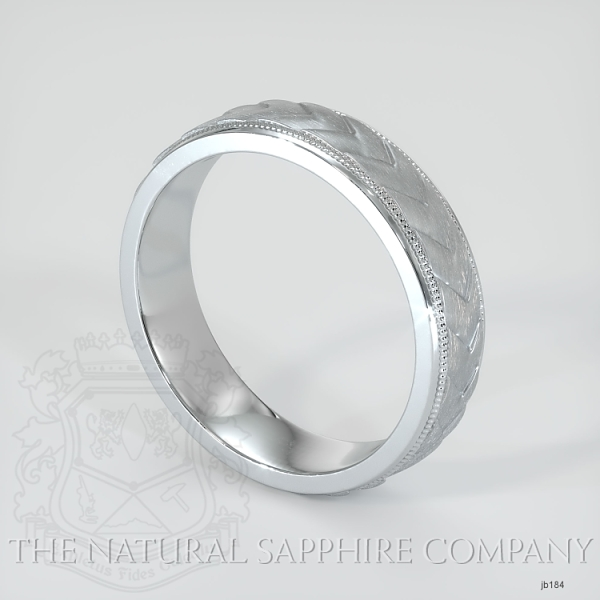 basic Carved diamond cut wedding band JB184 Image