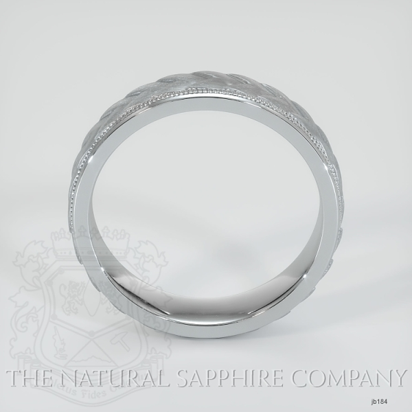basic Carved diamond cut wedding band JB184 Image 3
