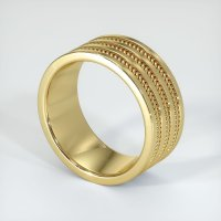 18K Yellow Gold Plain Band - JB196Y18