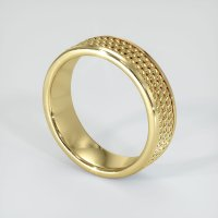 18K Yellow Gold Plain Band - JB197Y18