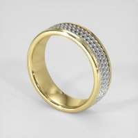 18K Yellow & White Plain Band - JB197YW18