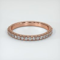 14K Rose Gold Gemstone Band - JB202R14
