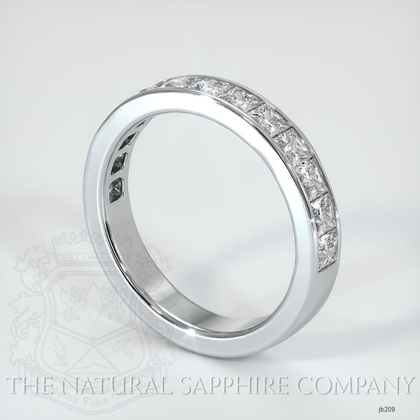 Princess Cut Channel Set Diamond Wedding Band JB209 Image 2