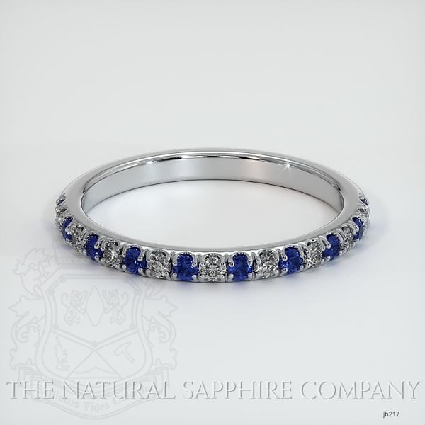 Half Way Blue Sapphire And Diamond Wedding Band JB217 Image