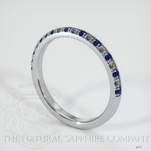 Half Way Blue Sapphire And Diamond Wedding Band JB217 Image 2