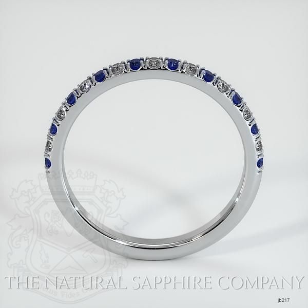 Half Way Blue Sapphire And Diamond Wedding Band JB217 Image 3