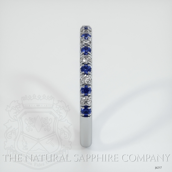 Half Way Blue Sapphire And Diamond Wedding Band JB217 Image 4