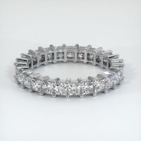 14K White Gold Gemstone Band - JB221W14