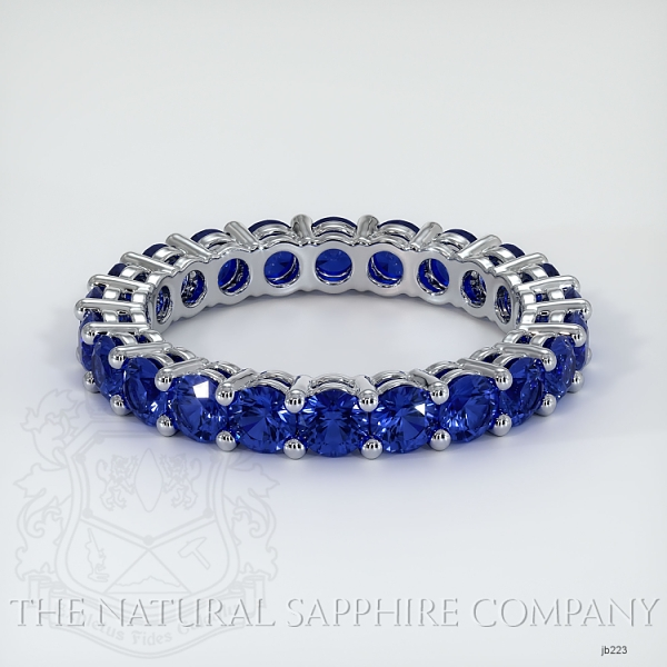 Prong Set Blue Sapphire Eternity Wedding Band JB223 Image