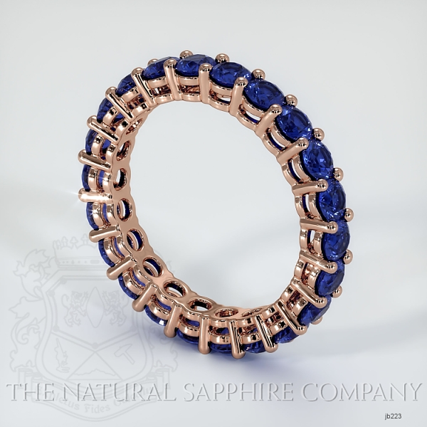 Prong Set Blue Sapphire Eternity Wedding Band JB223 Image 2