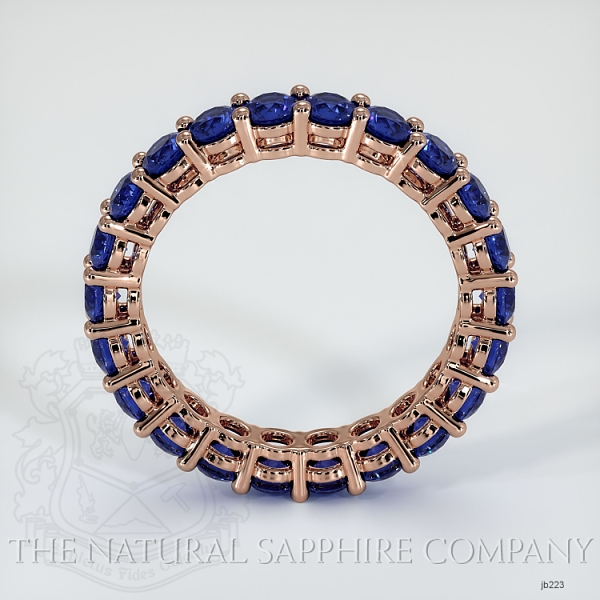Prong Set Blue Sapphire Eternity Wedding Band JB223 Image 3