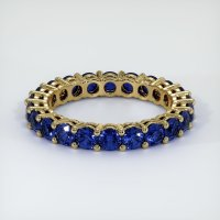 18K Yellow Gold Gemstone Band - JB223Y18