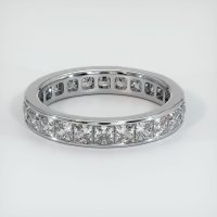14K White Gold Gemstone Band - JB225W14