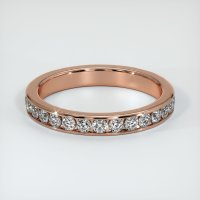 14K Rose Gold Gemstone Band - JB226R14