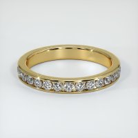 18K Yellow Gold Gemstone Band - JB226Y18