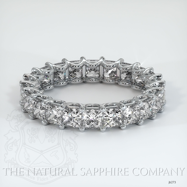 Princess Cut Loop Diamond Eternity Wedding Band JB273 Image