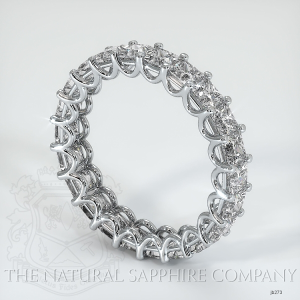 Princess Cut Loop Diamond Eternity Wedding Band JB273 Image 2