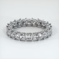 18K White Gold Gemstone Band - JB273W18