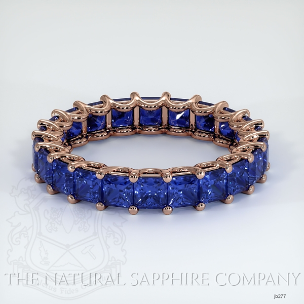 Princess Cut Loop Blue Sapphire Eternity Wedding Band JB277 Image
