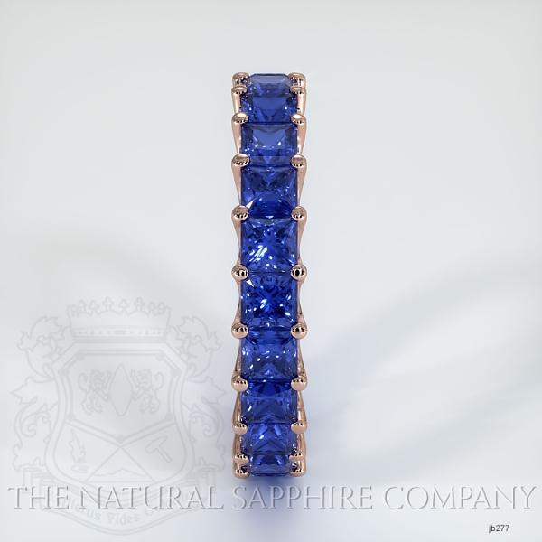 Princess Cut Loop Blue Sapphire Eternity Wedding Band JB277 Image 4