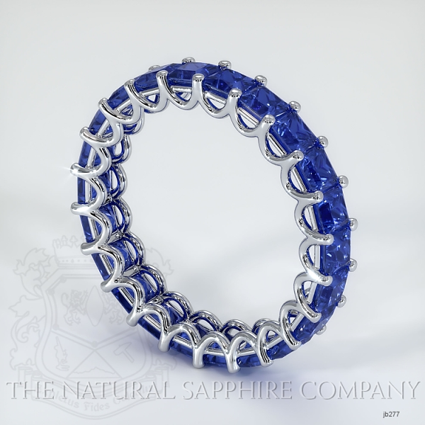 Princess Cut Loop Blue Sapphire Eternity Wedding Band JB277 Image 2