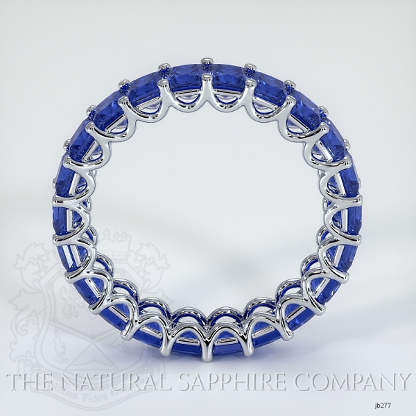 Princess Cut Loop Blue Sapphire Eternity Wedding Band JB277 Image 3