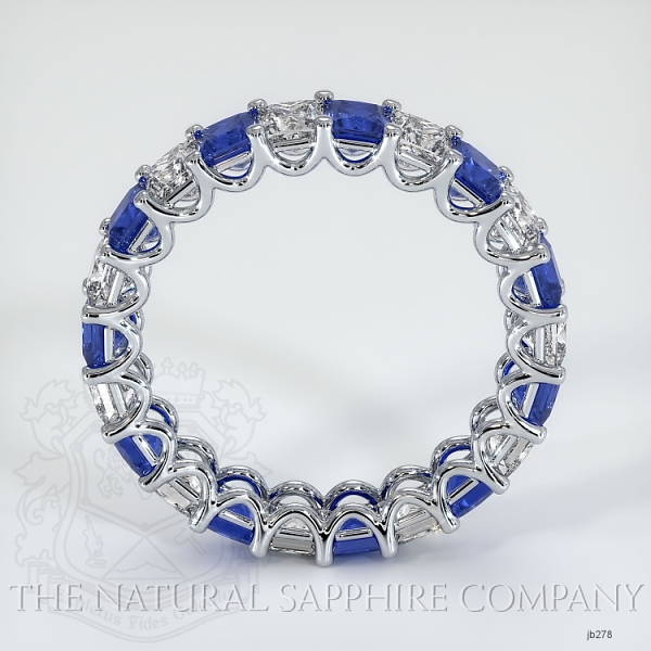 Princess Cut Loop Blue Sapphire And Diamond Eternity Wedding Band JB278 Image 3