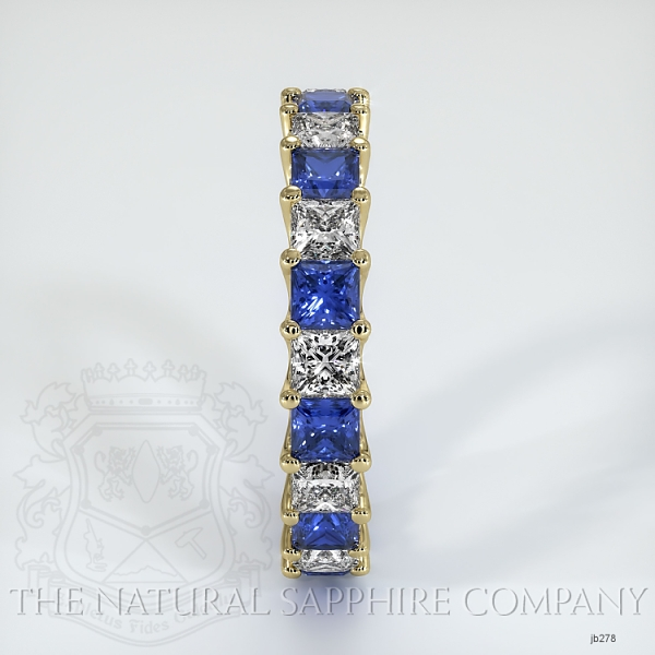 Princess Cut Loop Blue Sapphire And Diamond Eternity Wedding Band JB278 Image 4